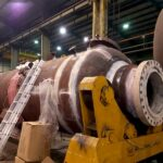 تنش زدایی موضعی خطوط جوش اسکرابر پروژه ایستگاه کمپرسور گاز پل کله