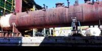 عملیات حرارتی سه دستگاه مخزن مربوط به پروژه نفت مناطق مرکزی ایران به وزن مجموع 275 تن
